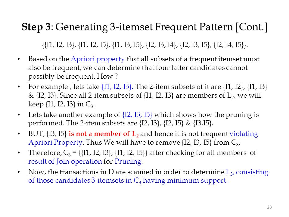 Step 3: Generating 3-itemset Frequent Pattern [Cont.]